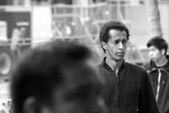 Market St Candids 5-21-18 43 (TheseusPhoto) Tags: monochrome blancoynegro blackandwhite bnw noir people candid streetphotography street marketstreet sanfrancisco california man guy hair face