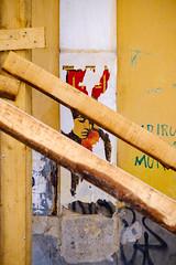 (Brînzei) Tags: cluj clujnapoca fujifilmxt1 jupiter985mmf2mc lzos m42 mateicorvin buildingsite cavemanart decay girls junkyard manualfocus orange pensive posters