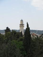 The Bab Al-Silsila minaret - one of four on Temple Mount (IceCal) Tags: babalsilsilaminaret israel jerusalem templemount