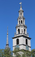 St Clement Danes (richardr) Tags: stclementdanes spire tower church london clock sirchristopherwren wren christopherwren baroque englishbaroque strand baroquearchitecture building architecture england english britain british greatbritain uk unitedkingdom europe european old history heritage historic