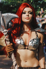 _DSC0117-RED-SONJA-01B (bobbygiggz) Tags: mcmcomiccon2018 londonexcelcentre cosplay fancydress superheroes fantasy art costume artwork swords knives guns scifi anime animation cosole games video entertainment erotic films cartoons tv stars dccomics marvel japanese vampires ghosts zombies cgi vr ar kpop warriors makeupartist specialfx fooddrink weapons axe starwars startrek tacticalgear latex steampunk