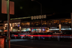 Boudin (benakersphoto) Tags: bay building lights light lighting night nightlife boudin store restaurant sanfrancisco sanfran san francisco car cars slow slowshutter long longexposure exposure city cityscape architecture sign signs nikon nikkor