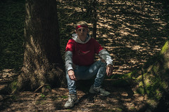 23 Queillets (Schynts Photography) Tags: forest fire scout 23 boy man model belgium hood wood trees green place jalhay thenorthface shooting photography 55mm sony sonyalpha alpha a7iii lights flame style blond hair barber sun flares good pro nature