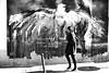 Under the wings (pascalcolin1) Tags: paris13 femme woman ailes wings oiseau bird peinture paint lumière light corbeau aigle eagle photoderue streetview urbanarte noiretblanc blackandwhite photopascalcolin 50mm canon50mm canon