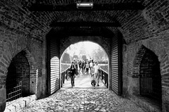 Come in, we're open (Valantis Antoniades) Tags: serbia belgrade kalemegdan fortress stambol gate black white monochrome
