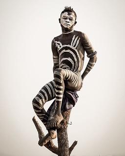The #karo tribe may exhibit intricate body painting patterns. Taken in #omovalley, #ethiopia. (c) Joel Santos #liveforthestory #travelphotographer #travelphotos #travelworld #storyteller #amazing_shots #amazing_shotz #amazingworld #travelphotos #people_in