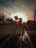 Beginning of sunset... (Alvaro Aguilar C.) Tags: beginning sunset road street streetphotography streetlight city