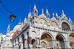 Saint Mark's Basilica (GSB Photography) Tags: italy venice venezia venesia veneto ladominante serenissima queenoftheadriatic cityofwater cityofmasks cityofbridges thefloatingcity cityofcanals stmark basilica church cathedral christian christianity religion building architecture sanmarco square piazzasanmarco city medieval europe european italian unesco beauty horsesofsaintmark icon iconic history historical sky moon nikon d60