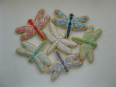 Dragonflies - Sugar Cookies (Parr's.Classic.Cookies) Tags: dragonflies cookies food eats dessert snack treats yum handdecorated colorfulglaze sugar cookie