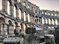 Ruins (aiva.) Tags: croatia istria pula hrvatska arena sunset coliseum ancient istra balkan amphitheater jadran adriatic ruins antic architecture