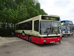 Preserved M393VWX Rowsley (Guy Arab UF) Tags: harrogate amp district 365 volvo b10b58 alexander strider peak park preserved bus gathering rowsley south station rail derbyshire buses