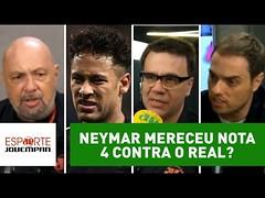 NEYMAR mereceu NOTA 4 contra o REAL? Veja DEBATE! (portalminas) Tags: neymar mereceu nota 4 contra o real veja debate