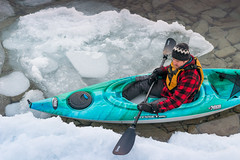 Man rests while on winter kayaking adventure (blurMEDIA Stock) Tags: brucepeninsula canada earth georgianbay ontario pfd active carpediem challenge climate climatechange determination environment environmental exercise fitness frozen fun globalwarming goodlife happy health healthy ice icy journey kayak kayaking lake lifejacket lifestyle living north northern outdoor perserverance planet refreshing rejuvenation relaxation retreat safety seasons skill solitary solitude sport warming winter wintersport