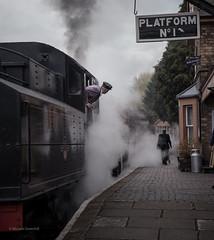 Waiting for departure (michaelgreenhill) Tags: severnvalleyrailway svr smoketrain hamptonloade shropshire railway locomotive england steam unitedkingdom gb