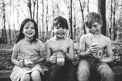 Hot, sweaty, dirty and very happy (Elizabeth Sallee Bauer) Tags: bonding boy child childhood children dirty family float fun giggles girl heat kid messy outdoors outside playing popsicle summer sweaty together togetherness treat youth
