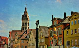 GERMANY, Schwäbisch Gmünd , St. Franziskus, Marktplatz, 76218/10139