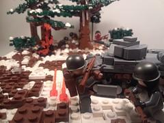 Italian Patrol Ambushed: Alternate Shot (JW_Productions) Tags: russia barbarossa world war ii lego tank carro armato l640 italian front brickarms winter