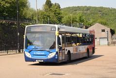 SW 28640 @ Pontypridd bus station (ianjpoole) Tags: stagecoach wales scania k230ub alexander dennis enviro 300 cn12awo 28640 working route t4 abergavenny bus station tresillian way cardiff