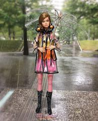 Rainy season (RockWan FR) Tags: rainy season poppyparker modelliving fashionroyalty transparent trench coat