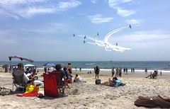 Day at the beach - Airshow style (LEXPIX_) Tags: lexpix summer skies sky blue photo image camera smartphone iphone aerial acrobatics stunt airplane aircraft 2018 page beth bethpage show air airshow beach jones island long sand ocean water