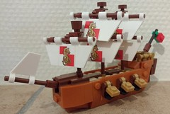 June 6: Man the sails! (Snowhitie) Tags: lego abuildadaykeepsthedoctoraway ship ideas