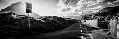No Parking Beyond this Point (Martin Jonathan NZ) Tags: canon piha auckland newzealand blackandwhite pano sunset