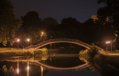 Passerelle (Joe Catrin) Tags: passe passerelle bridge pont water watercourse canal marne night midn midnight nightlight light lighting miroir mirror reflet reflection reflect architecture effect river way time color instant illuminated illumine picture photo picoftheday pics square france sky nikon life moment city nature natural