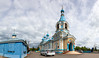 Church of the Kazan Icon of the Mother of God. (Oleg.A) Tags: ancient building cathedral church old brick city outdoor evening dome clouds exterior summer kuznetsk penzaregion russia cloudy orthodox town architecture cross style design materials bell catedral outdoors penzenskayaoblast ru