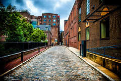 Streets of Philadelphia 2 (Igor Danilov Philadelphia) Tags: philadelphia street vivid cobblestone pavement nikond700 igordanilov игорьданилов center city sky clouds bricks old overcast cloudy alley oldcity usa america alleyeay quiet peaceful calm joy walk colorful conspicuous prominent depth