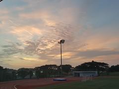 20180329_065726 (himan30095) Tags: clouds goldenhour light runningtrack field