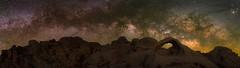 Scorpius Arch Pano (RyanLunaPhotography) Tags: scorpius arch joshua tree milky way rokinon fuji fujifilm night desert solitude stars astro astrophotography