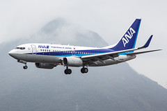 ANA B737-700 JA18AN 001 (A.S. Kevin N.V.M.M. Chung) Tags: aviation aircraft aeroplane airport airlines plane spotting hkg airside landing arrival ana boeing