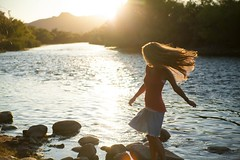 Woman in Red Tank Top Standing on Stone Near Body of Water during Daytime (2kreviews) Tags: girl hair lady lake landscape leisure mountain outdoors reflection relaxation river rocks sand sun sunglare sunset travel trees vacation water woman