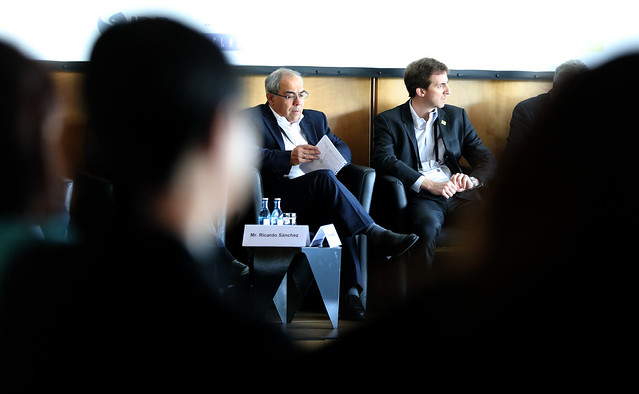 Nester Roa and Alejandro Furas attend the Panel Session