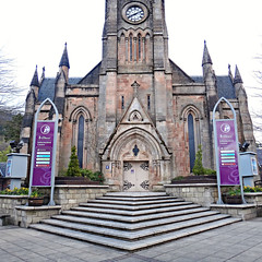 Rob Roy and Trossachs Visitor Centre (Colorado Sands) Tags: church gothic robertbaldie ancastersquare clocktower stkessogschurch visitorcentre callander scotland uk unitedkingdom gb greatbritain steps informationcenter building architecture pointedgothic visitscotland