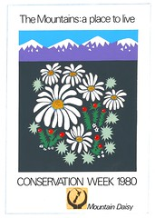 'The Mountains: A Place to Live' artwork, 1980 (Archives New Zealand) Tags: archivesnewzealand archives archivesnz newzealand art artwork conservation conservationweek 1980 marine wetlands seacoast mountains birds animals nativebirds flowers flora fauna