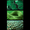the Greens of the RGB texture series for club project (Wendy:) Tags: macro texture rgbseries greens malachite peacock thread silk triptych green