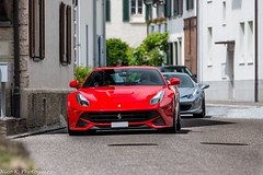 Ferrari F12berlinetta (Nico K. Photography) Tags: ferrari f12berlinetta red 458 italia silver combo supercars nicokphotography switzerland dachsen