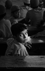 Stare (Shahrear94) Tags: bangladesh blackandwhite bnw monochromatic monochrome blackwhite portrait eyes orphan black white sunlight natural iftar lifestyle kids boy contrast life day canon flicker