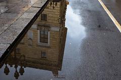 Reflejos Palermo (Stauromel) Tags: palermo sicilia reflejos lluvia agua charco stauromel street lineas alquimiadigital fuji fujixt2 italia
