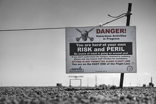 You are here at your own risk and peril