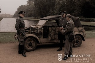 German Officers for reenactment for Wrest Park at War English Heritage