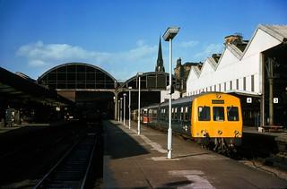 Class 101 DMU @ Newcastle, 06/10/1976 [slide 7635]