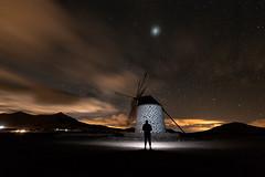 Alone. (Pedro López Batista) Tags: fuerteventura canarias canaryislands canon canaries clouds 6dmarkii 6d nocturna largaexposicion longexposition sky cielo tefia molino windmill jupiter