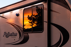 5th Wheel Reflection (James Marvin Phelps) Tags: utah 5thwheel rv camping rvcamping rubysinnrvcampground brycecanyon granddesign 150series sunset reflection jamesmarvinphelps jamesmarvinphelpsphotography