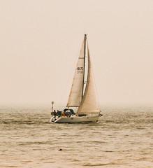 Sailing off Dumpton Gap into the mist (philbarnes4) Tags: yacht sailing boat vessel sail mist dumptongap broadstairs thanet kent england philbarnes marine sea channel dslr nikond5500 mast leisure craft relaxation coast coastal seamist journey journeying