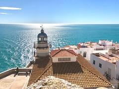 Peniscola Lighthouse. Peniscola, Castellon, Spain (mtm2935) Tags: mar faro sea ocean mediterranean costadelazahar peñíscola lighthouse