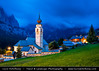 Italy - Alps - Dolomites - Colfosco Church at Twilight - Blue Hour - Night - Dusk (© Lucie Debelkova / www.luciedebelkova.com) Tags: colfosco calfosch dolomites dolomiti southtyrol alps alpine italy italian italia italianrepublic republicofitaly repubblicaitaliana southeurope country europe europeanunion eu italianpeninsula italie world exploration trip vacation holiday place destination location journey tour touring tourism tourist travel traveling visit visiting sight sightseeing wonderful fantastic awesome stunning beautiful breathtaking incredible lovely nice best perfect landscape nature mountains valley wwwluciedebelkovacom church tree grass green cloud building village mountain