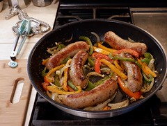 Sausage Peppers and Onions (Key West Wedding Photography) Tags: sausage sausagesandwich italianfood homemade homemadefood iatethis keywest florida cayobo helenbo
