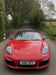 Dark Hedge Boxster (syf22) Tags: car vehicle motor motorcar autocar auto porsche automobile boxster red convertible coupe guardsred 981s northernireland causewaycoast darkhedge